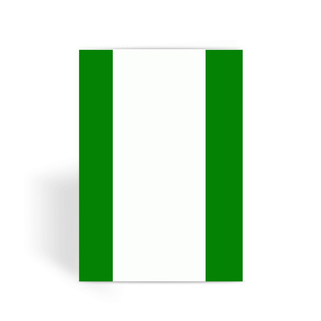 Flag Of Nigeria Greeting Card Prints Flagdesignproducts.com