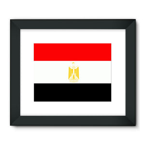 Flag Of Egypt Framed Fine Art Print Wall Decor Flagdesignproducts.com