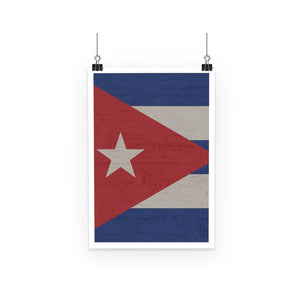 Cuba Stone Wall Flag Poster Decor Flagdesignproducts.com