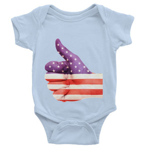 Usa Hand And Finger Flag Baby Bodysuit Apparel Flagdesignproducts.com