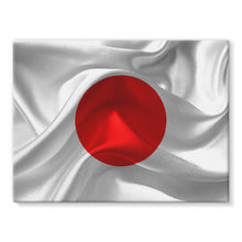 Waving Fabric Japan Flag Stretched Canvas Wall Decor Flagdesignproducts.com