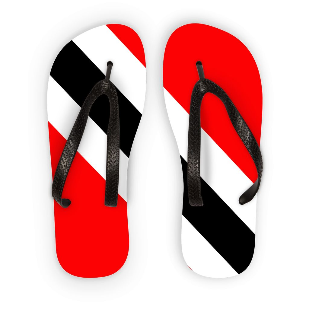 Flag Of Trinidad And Tobago Flip Flops Accessories Flagdesignproducts.com
