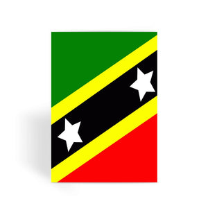 Flag Of Saint Kitts & Nevis Greeting Card Prints Flagdesignproducts.com