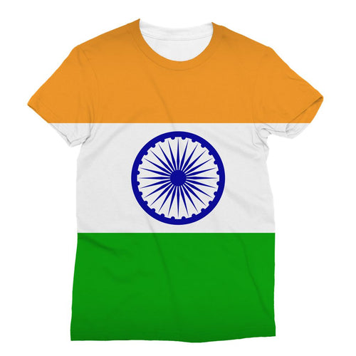 Basic India Flag Sublimation T-Shirt Apparel Flagdesignproducts.com