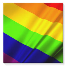 Waving Rainbow Lgbt Flag Stretched Canvas Wall Decor Flagdesignproducts.com