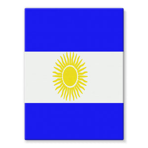 Flag Of Argentina Stretched Canvas Wall Decor Flagdesignproducts.com