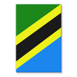 Flag Of Tanzania Stretched Eco-Canvas Wall Decor Flagdesignproducts.com