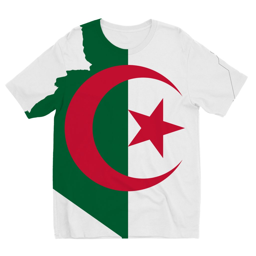 Algeria Continent Flag Kids Sublimation T-Shirt Apparel Flagdesignproducts.com