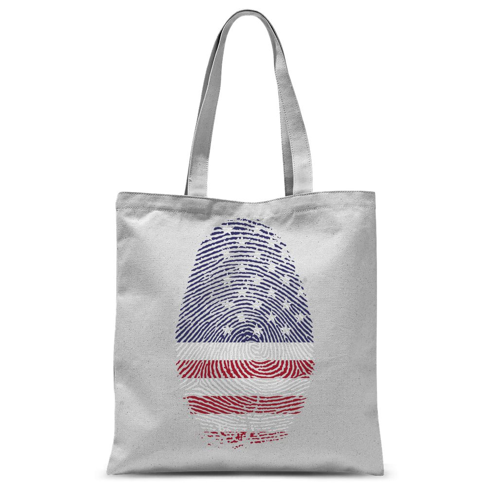 Usa Flag Finger Print Sublimation Tote Bag Accessories Flagdesignproducts.com