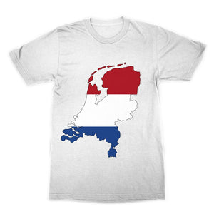 Netherlands Continent Flag Sublimation T-Shirt Apparel Flagdesignproducts.com