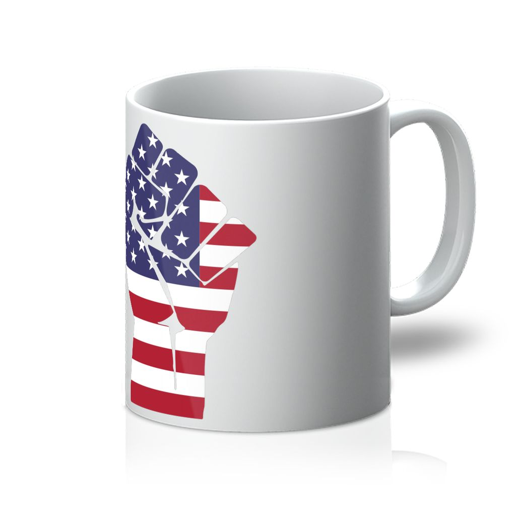 America First Hand Flag Mug Homeware Flagdesignproducts.com
