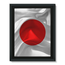 Waving Fabric Japan Flag Framed Canvas Wall Decor Flagdesignproducts.com