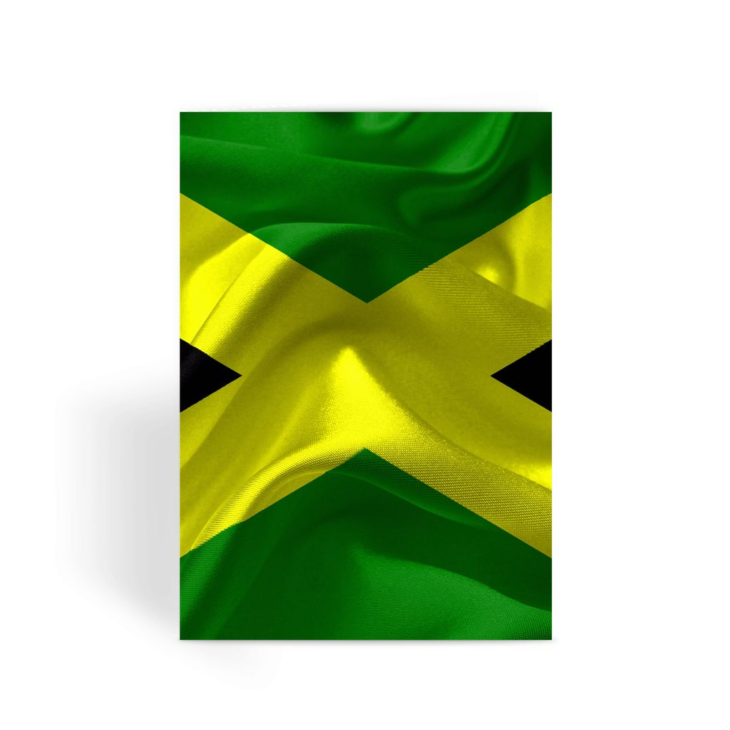 Waving Jamaica Flag Greeting Card Prints Flagdesignproducts.com