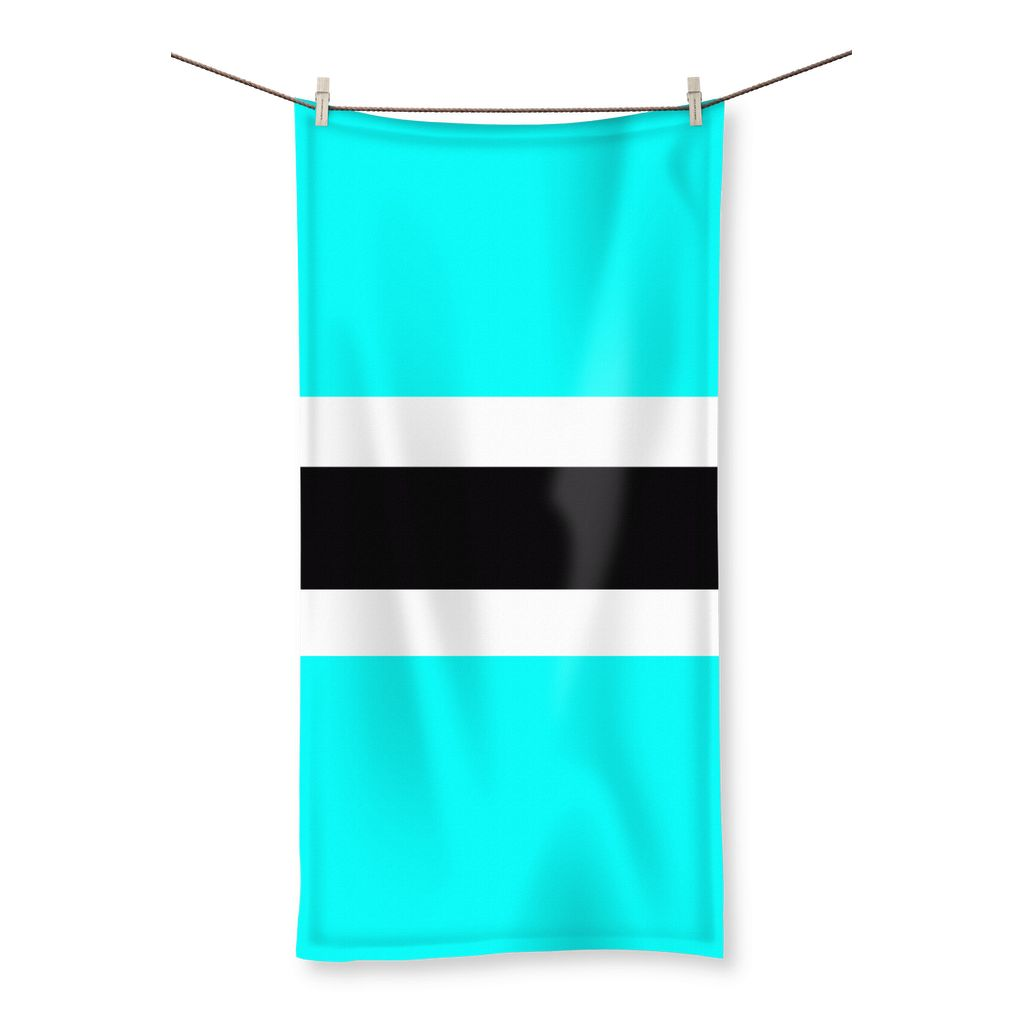 Flag Of Botswana Beach Towel Homeware Flagdesignproducts.com