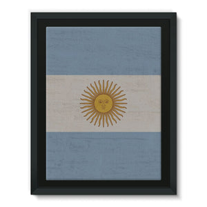 Argentina Stone Wall Flag Framed Canvas Decor Flagdesignproducts.com