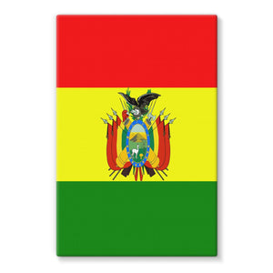 Flag Of Bolivia Stretched Canvas Wall Decor Flagdesignproducts.com