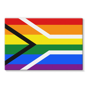 South African Rainbow Flag Stretched Eco-Canvas Wall Decor Flagdesignproducts.com