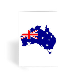 Australia Continent Flag Greeting Card Prints Flagdesignproducts.com