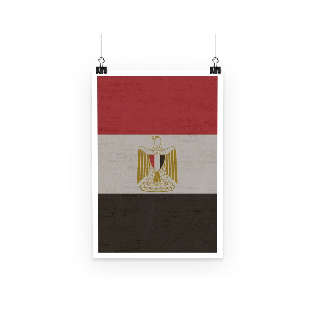 Egypt Stone Flag Poster Wall Decor Flagdesignproducts.com