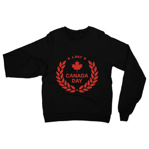 Canada Day Maple Leaf Flag Heavy Blend Crew Neck Sweatshirt Apparel Flagdesignproducts.com