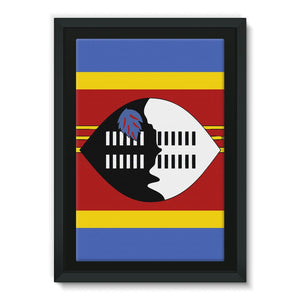 Flag Of Swaziland Framed Canvas Wall Decor Flagdesignproducts.com