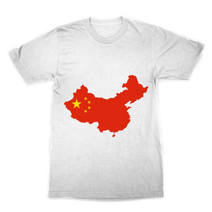 China Continent Flag Sublimation T-Shirt Apparel Flagdesignproducts.com