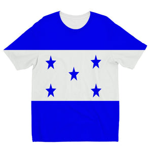 Flag Of Honduras Kids Sublimation T-Shirt Apparel Flagdesignproducts.com