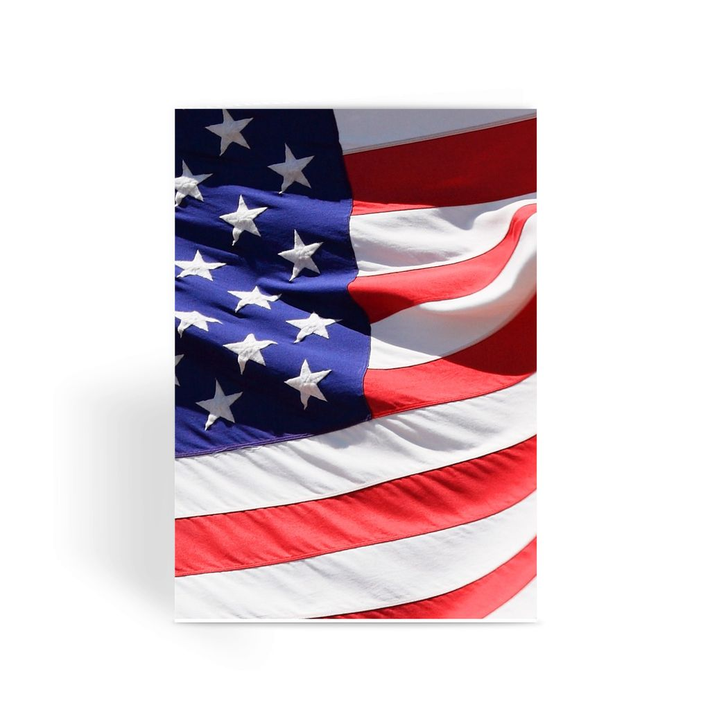 Waving America Usa Flag Greeting Card Prints Flagdesignproducts.com