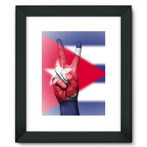 Cuba Flag And Hand Framed Fine Art Print Wall Decor Flagdesignproducts.com