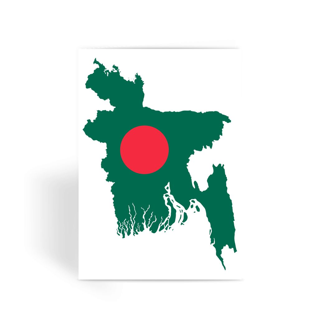 Bangladesh Continent Flag Greeting Card Prints Flagdesignproducts.com