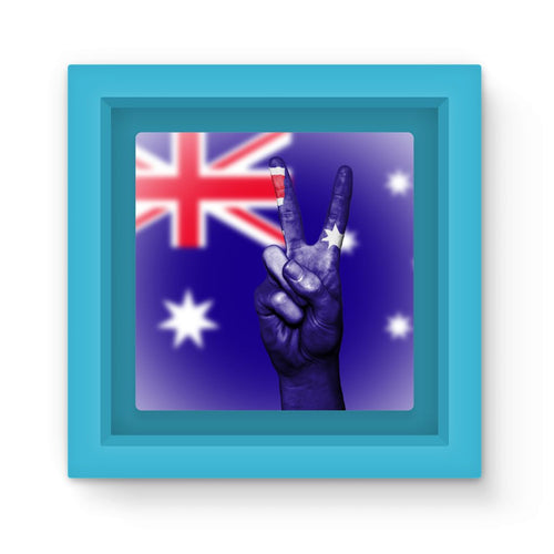 Australia Flag And Hand Magnet Frame Homeware Flagdesignproducts.com