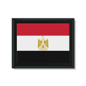 Basic Egypt Flag Framed Eco-Canvas Wall Decor Flagdesignproducts.com