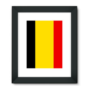 Basic Belgium Flag Framed Fine Art Print Wall Decor Flagdesignproducts.com