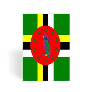 Flag Of Dominica Greeting Card Prints Flagdesignproducts.com
