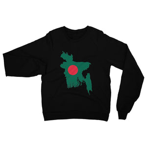Bangladesh Continent Flag Heavy Blend Crew Neck Sweatshirt Apparel Flagdesignproducts.com