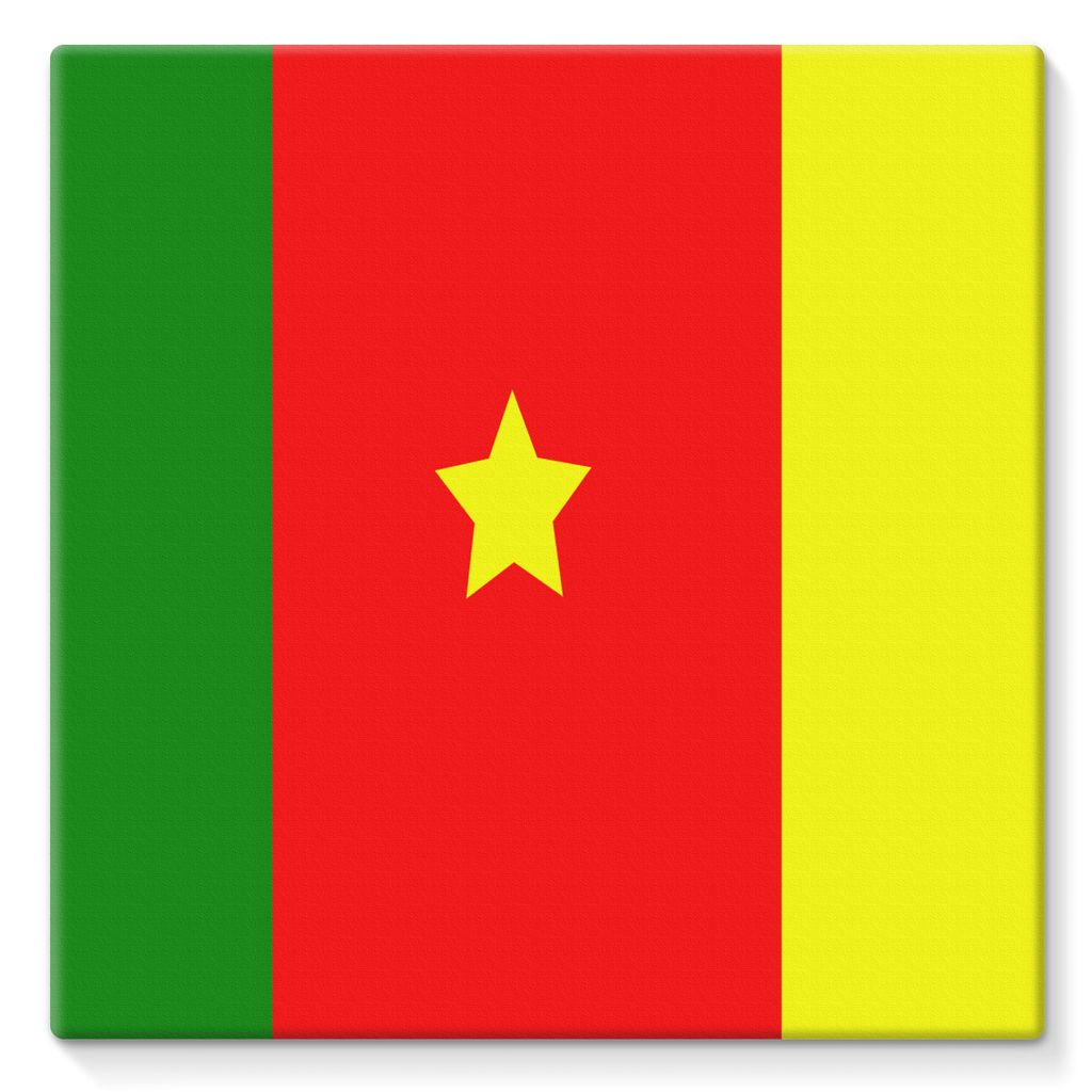 Flag Of Cameroon Stretched Eco-Canvas Wall Decor Flagdesignproducts.com