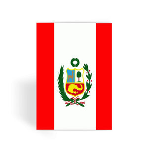 Flag Of Peru Greeting Card Prints Flagdesignproducts.com
