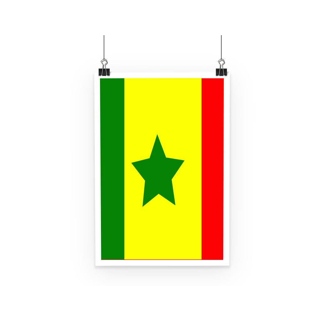 Flag Of Senegal Poster Wall Decor Flagdesignproducts.com
