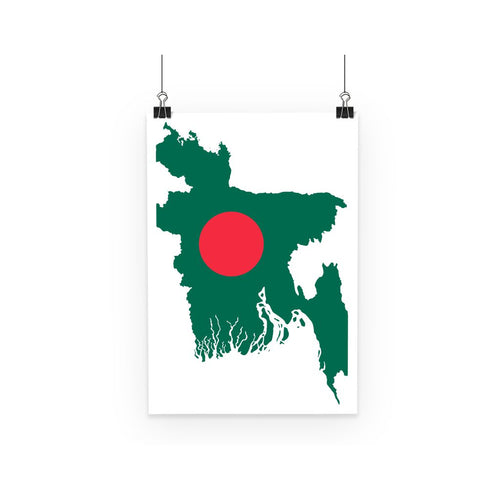 Bangladesh Continent Flag Poster Wall Decor Flagdesignproducts.com