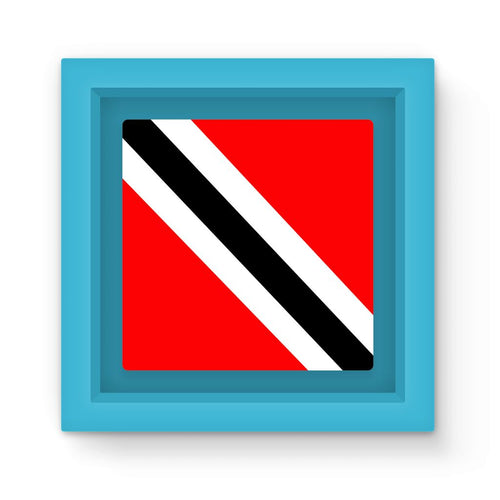 Flag Of Trinidad And Tobago Magnet Frame Homeware Flagdesignproducts.com