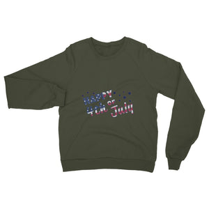 4Th July Usa Text Flag Heavy Blend Crew Neck Sweatshirt Apparel Flagdesignproducts.com