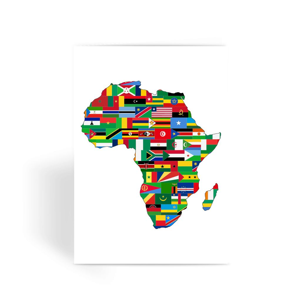 Africa Countries Flag Greeting Card Prints Flagdesignproducts.com