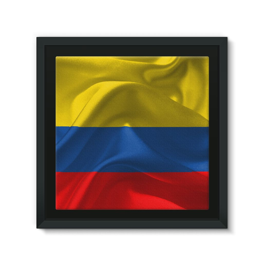 Waving fabric national flag Framed Eco-Canvas – FlagDesignProducts