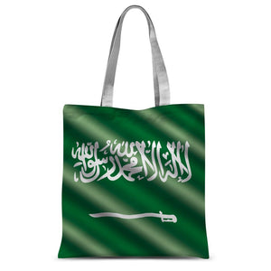 Waving Saudi Arabia Flag Sublimation Tote Bag Accessories Flagdesignproducts.com
