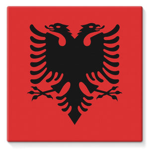 National Flag Of Albania Stretched Eco-Canvas Wall Decor Flagdesignproducts.com
