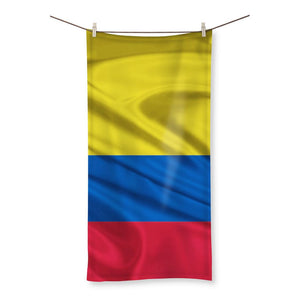 Waving Colombia Fabric Flag Beach Towel Homeware Flagdesignproducts.com