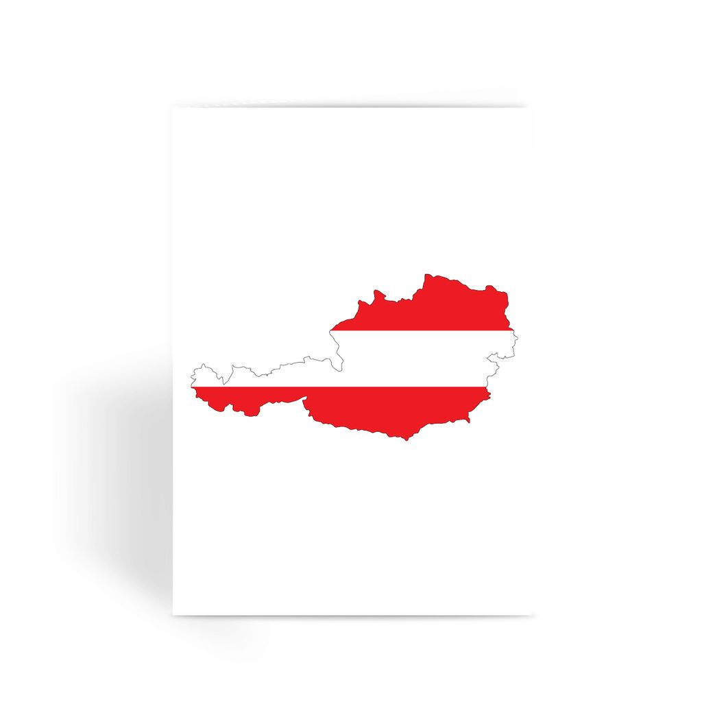 Austria Continent Flag Greeting Card Prints Flagdesignproducts.com