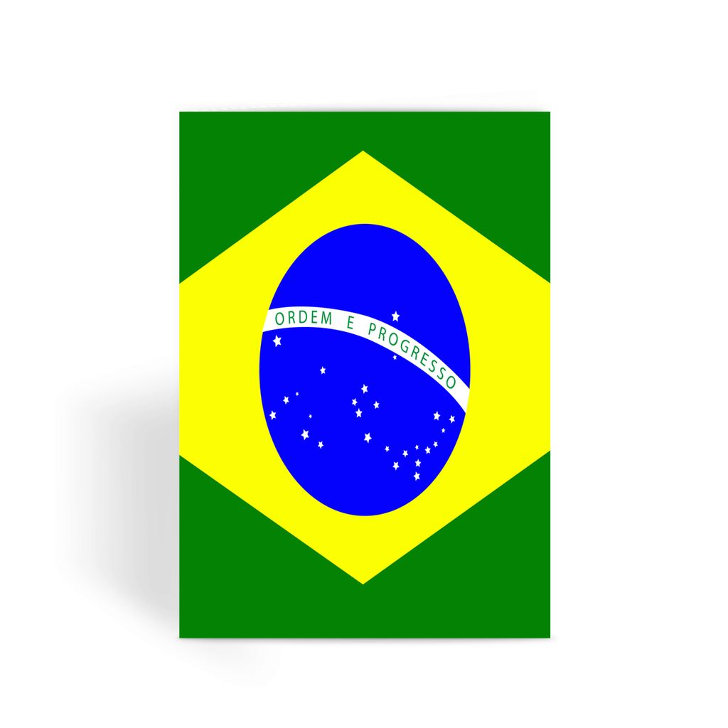 Flag Of Brazil Greeting Card Prints Flagdesignproducts.com