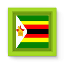 Flag Of Zimbabwe Magnet Frame Homeware Flagdesignproducts.com