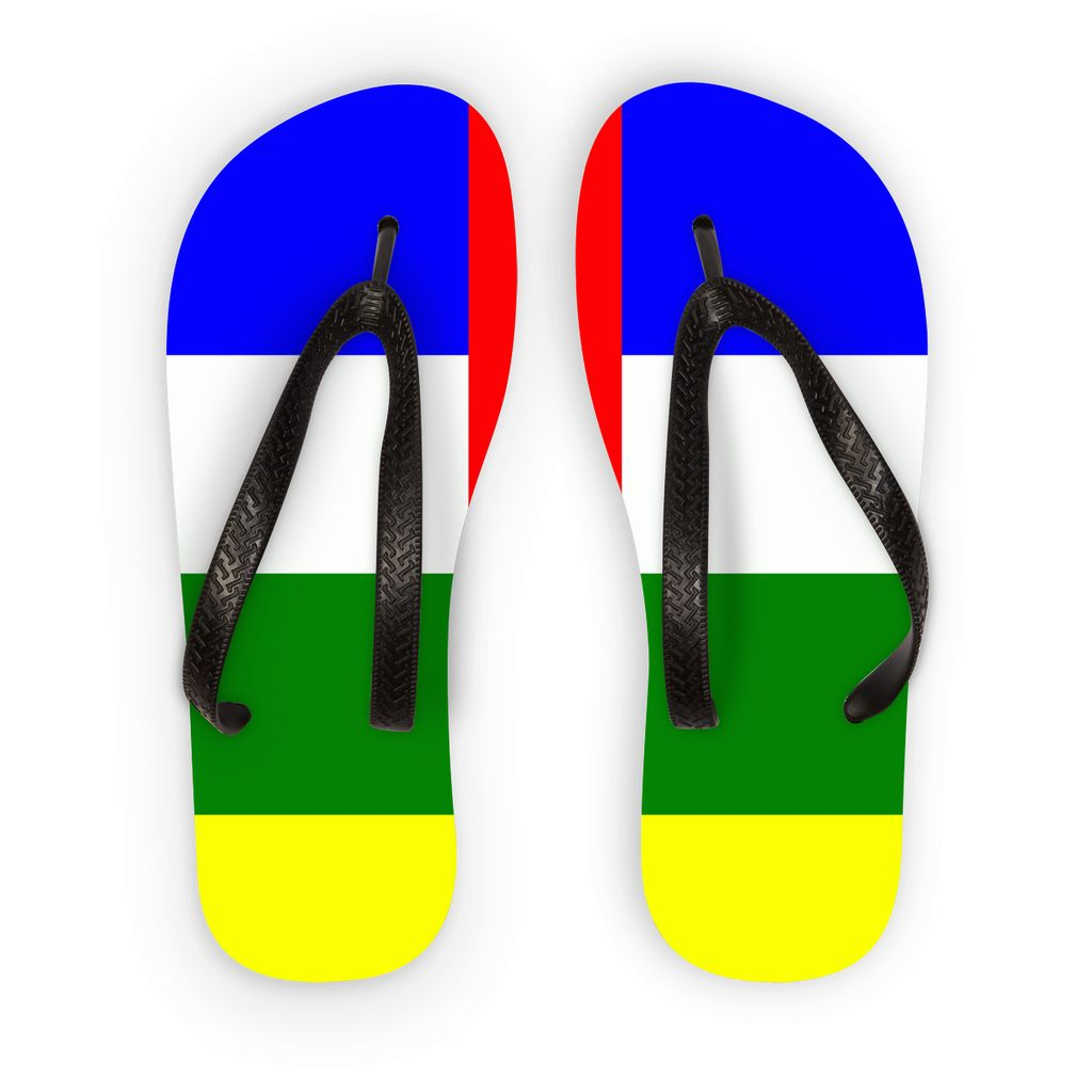 Flag Of Central African Flip Flops Accessories Flagdesignproducts.com